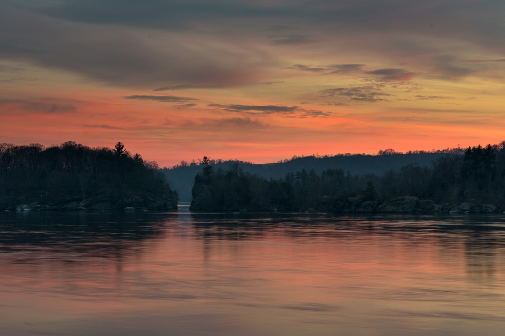 Sunset on the Susquehanna River near Drumore, PA.
